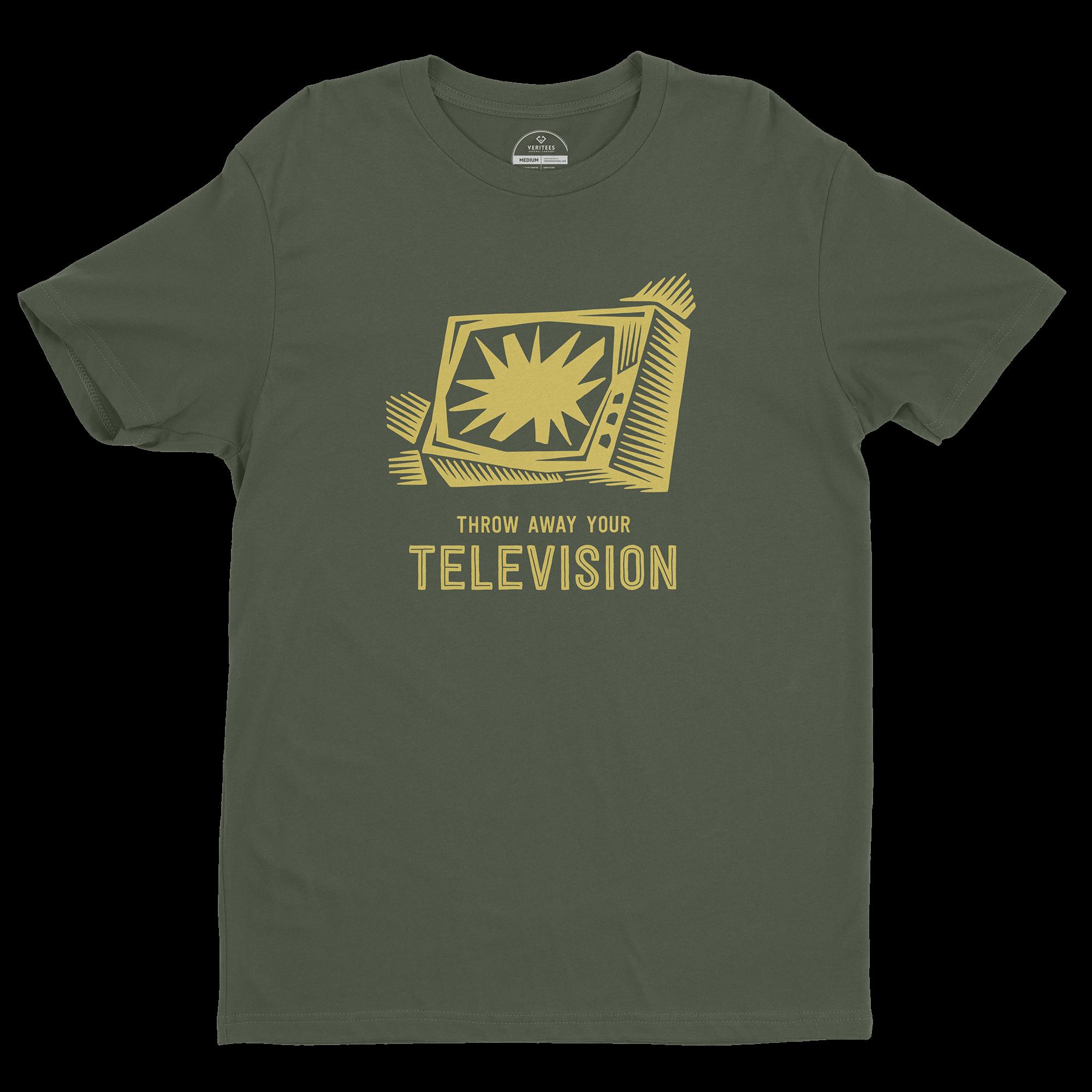 Throw Away Your TV Tee conspiracy t-shirt