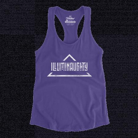 Illuminaughty Racerback Tank conspiracy t-shirt