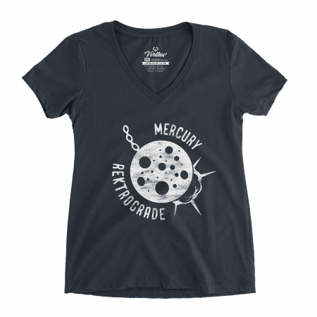 Mercury Rektrograde V-Neck conspiracy t-shirt